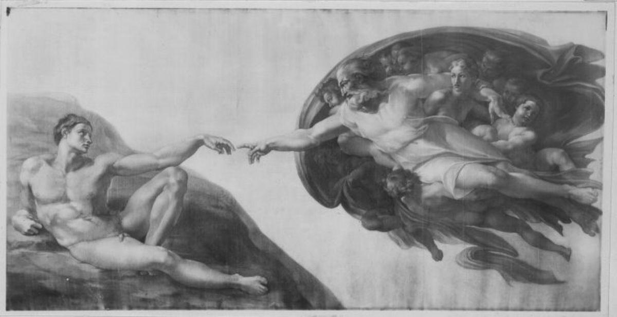 Die Erschaffung Adams (nach Michelangelo)