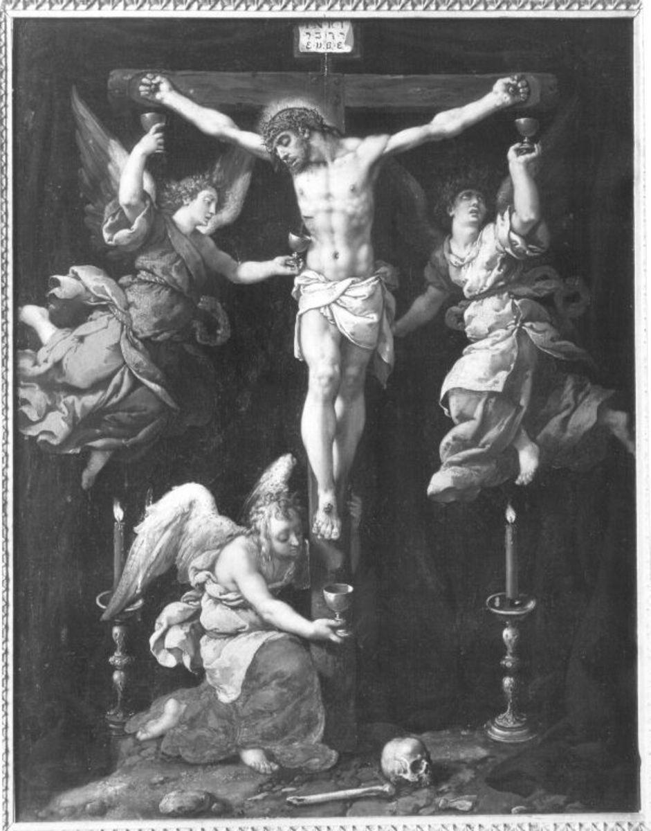 Christus am Kreuz mit Engeln