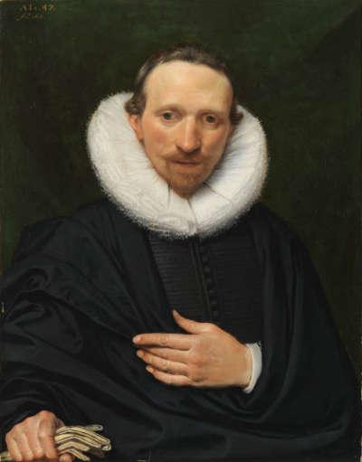 Bildnis eines schwarz gekleideten Mannes