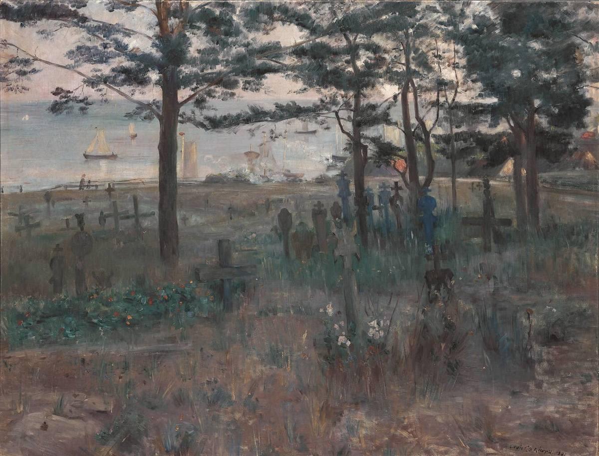 Fischerfriedhof in Nidden an der Kurischen Nehrung