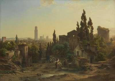 Ansicht von Verona, vom Giardino Giusti aus gesehen