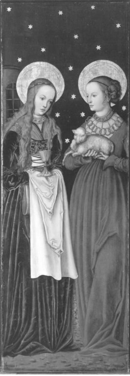 Altarflügel: Hll. Barbara und Agnes