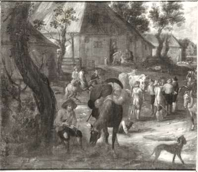 Plünderung eines Dorfes