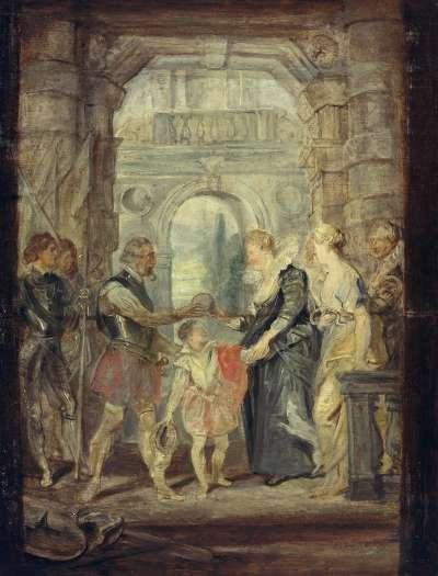 Die Übergabe der Regentschaft (Skizze zum Medici-Zyklus)