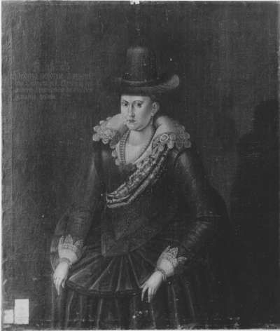 Bildnis der Hedwig von Dänemark, Gemahlin des Kurfürsten Christian II. von Sachsen