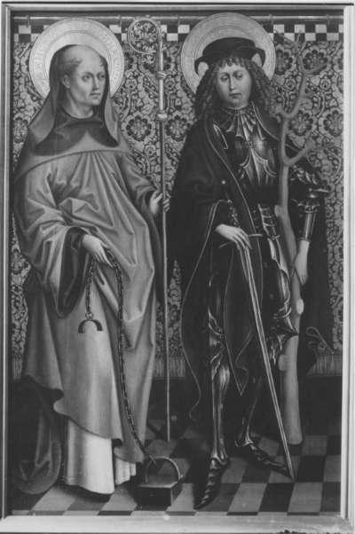 Hll. Leonhard und Sebastian (Achatius?)