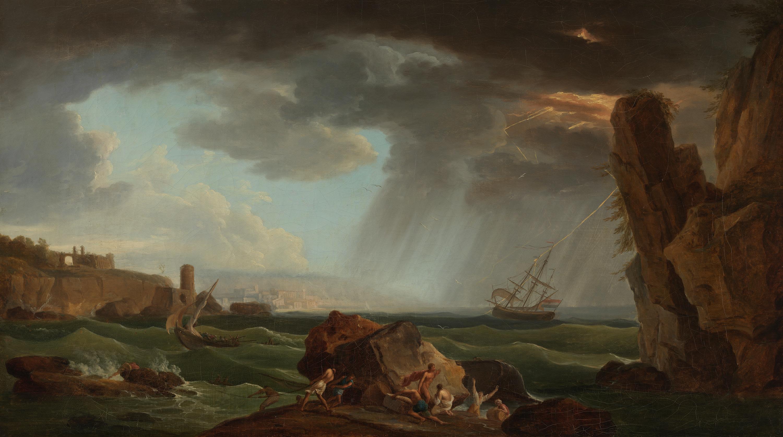 Schiffbruch am Abend