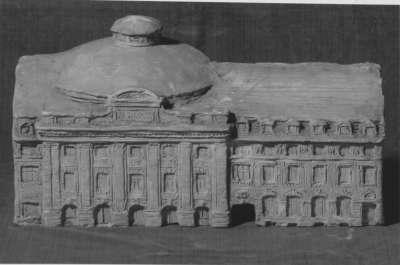 Modell eines Theaters an der Theresienstraße in München