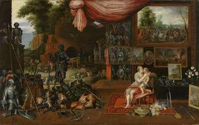 Venus und Amor in der Schmiede des Vulkan (Das Gefühl)