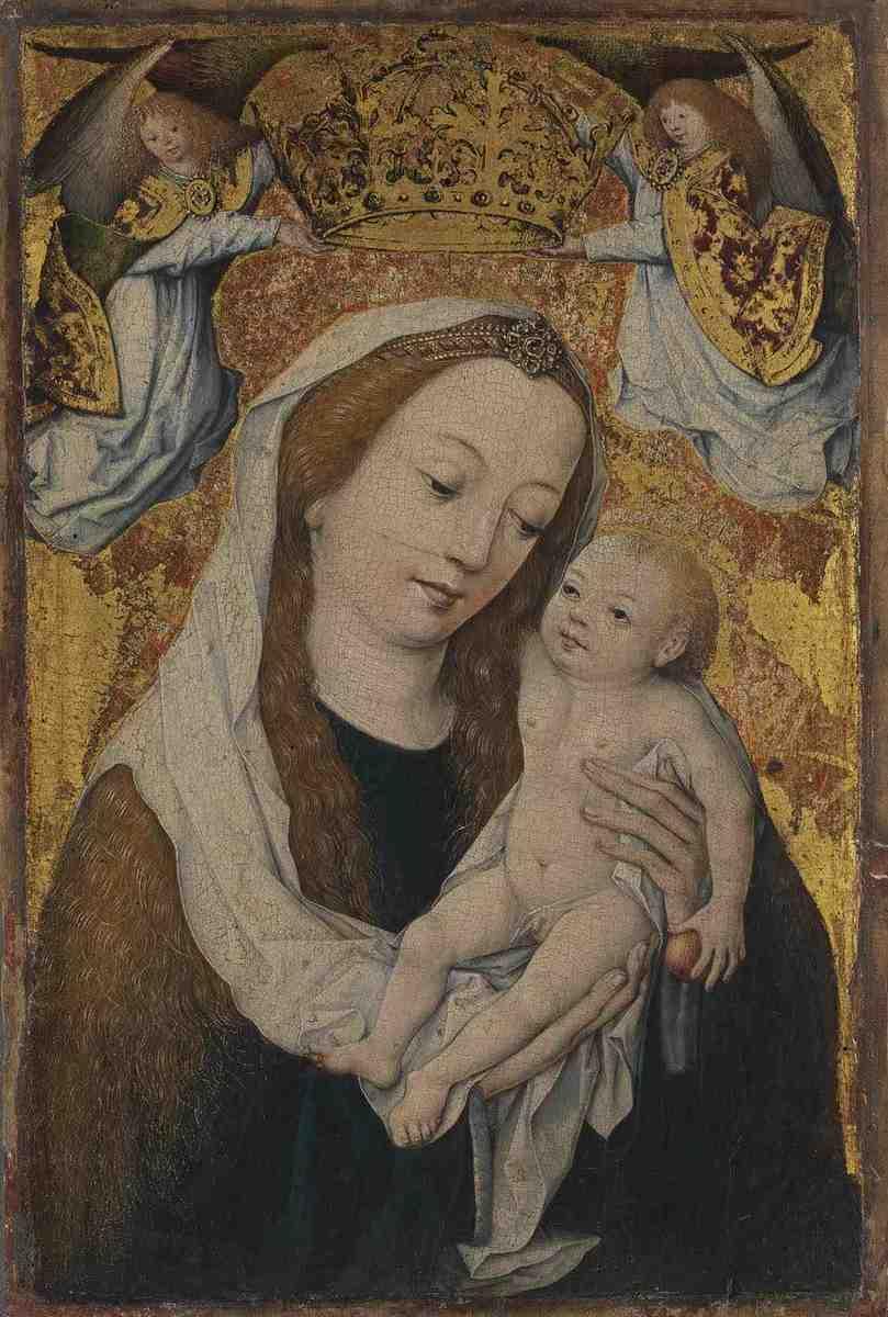 Maria mit dem Kind, von Engeln gekrönt