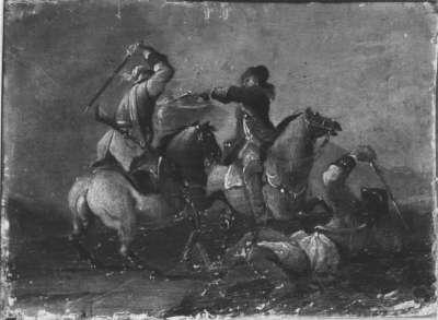 Kämpfende Reiterei