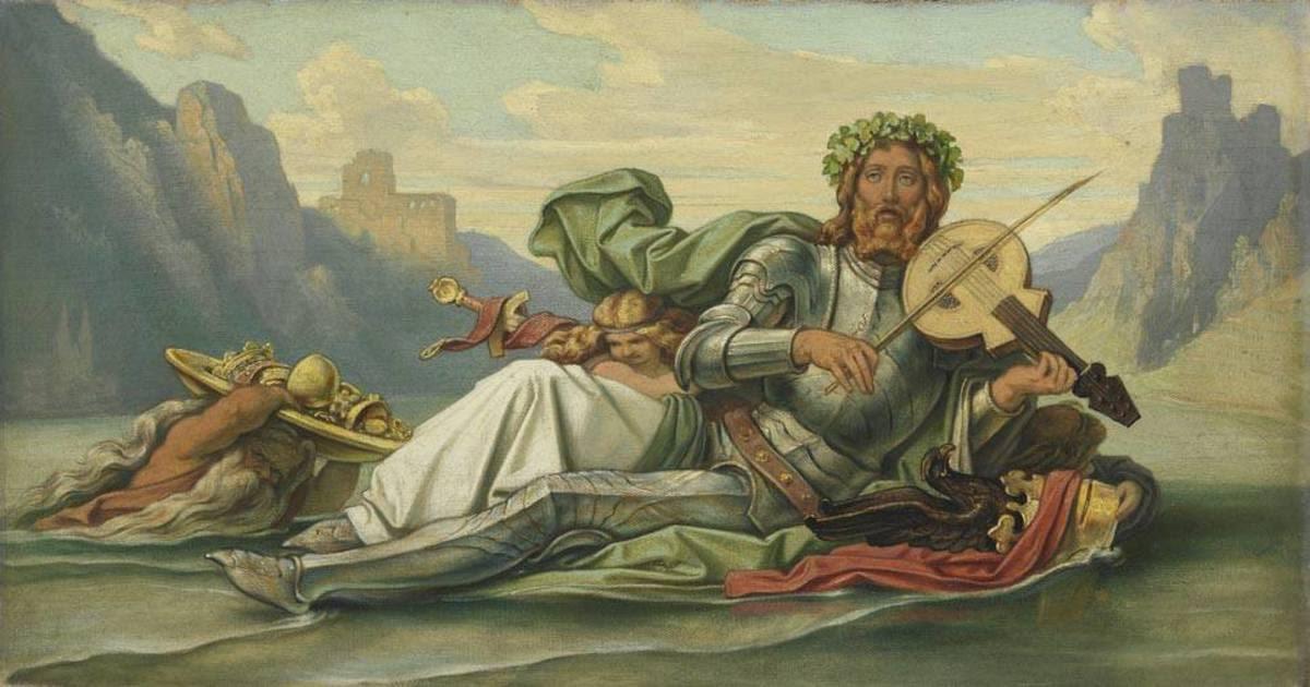 Der Vater Rhein, die Fidel Volkers spielend