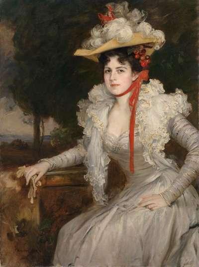Frieda Kaulbach, geb. Scotta, die zweite Frau des Künstlers