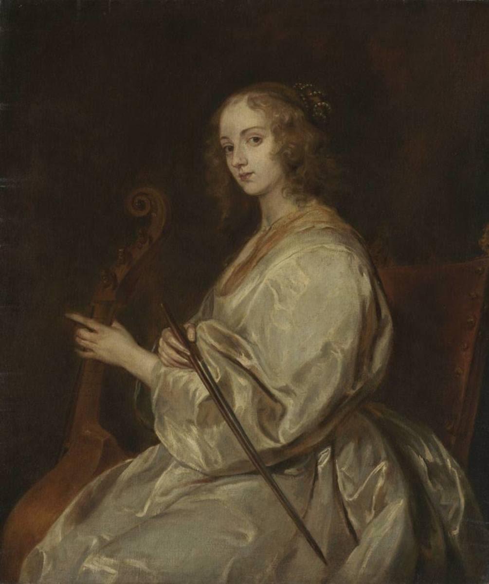Gambenspielerin (nach van Dyck)