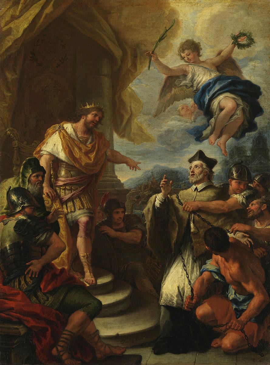 Johann Nepomuk vor König Wenzel