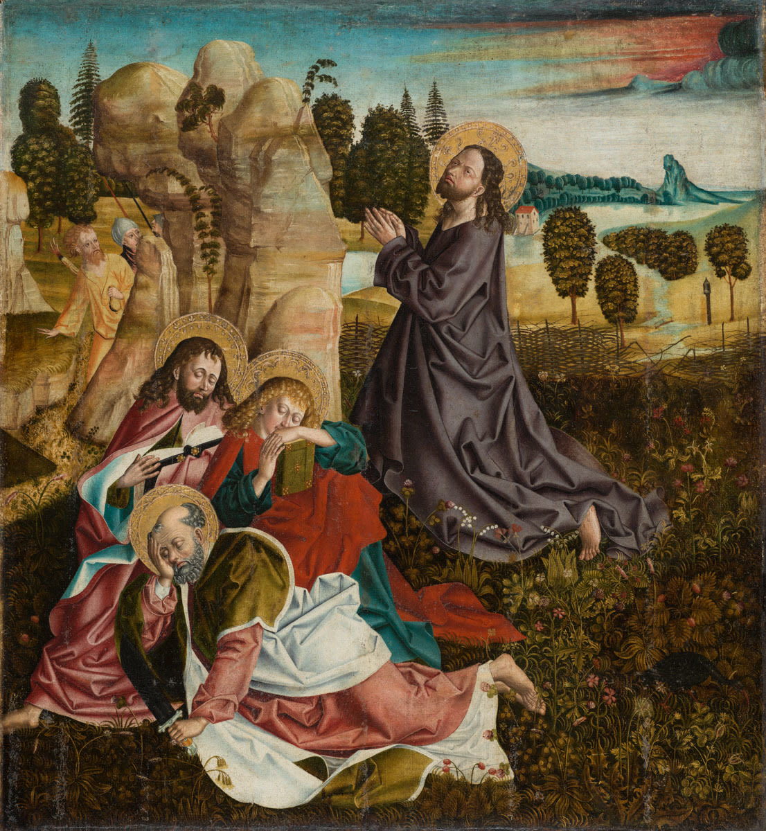 Rottenbucher Altar: Christus am Ölberg (Rückseite: Grablegung Christi)