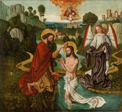 Atteler Altar: Taufe Christi (Rückseite: ehemals Relief)