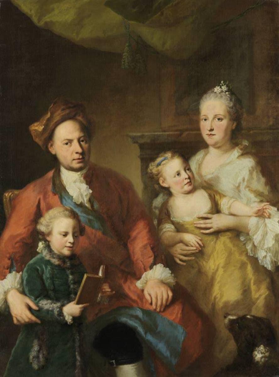 Bayerischer Hofarzt Erhard Winterhalter mit Familie
