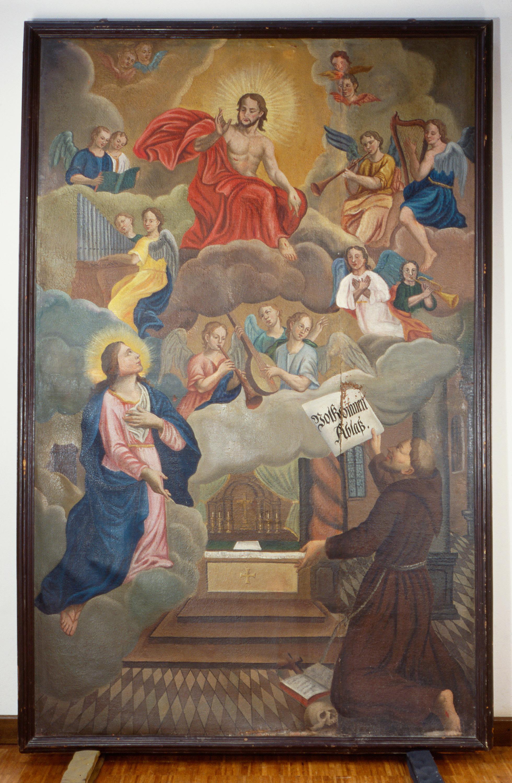 Der hl. Franziskus empfängt den Portiunkula-Ablass