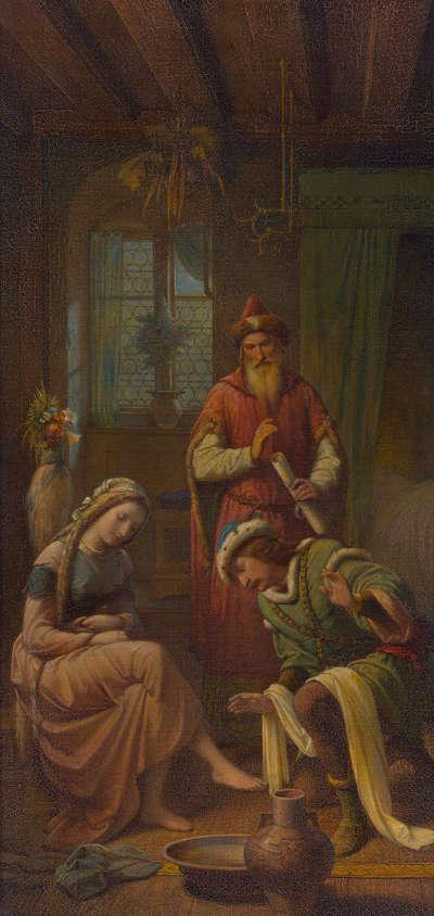 Pippin wäscht Berta die Füße (Triptychon, rechter Flügel)