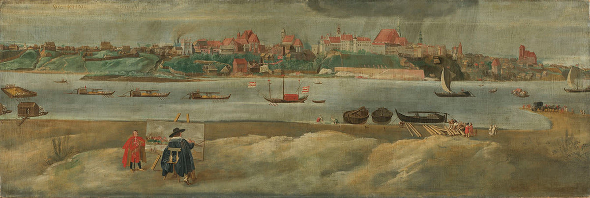 Ansicht der Stadt Warschau