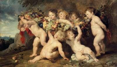 Die Früchtegirlande (mit Frans Snyders und Jan Wildens)