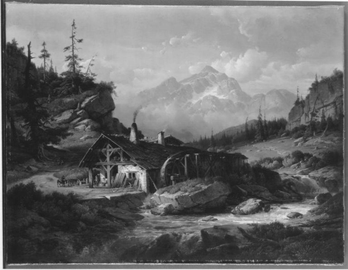 Mühle im Gebirge
