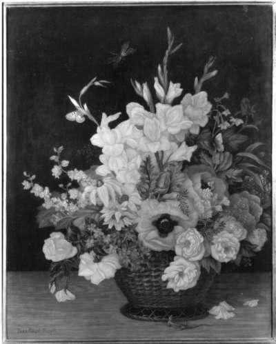 Blumenstück mit Gladiolen