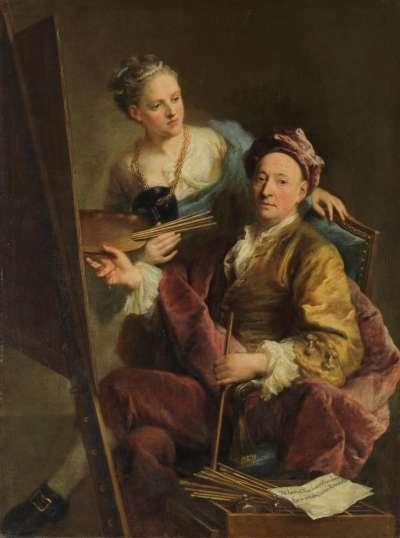 Der Künstler mit seiner Tochter Antonia