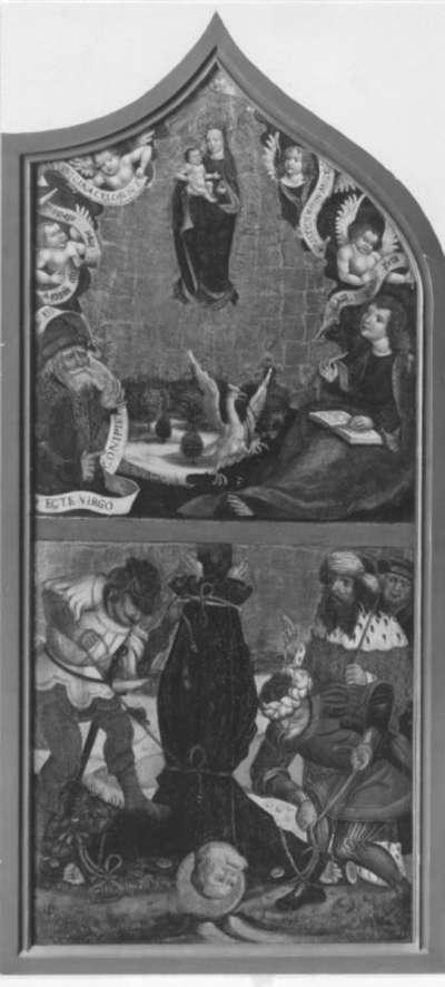 Maria als Himmelskönigin und Kreuzigung Petri (Abgetrennte Rückseite siehe 9902)