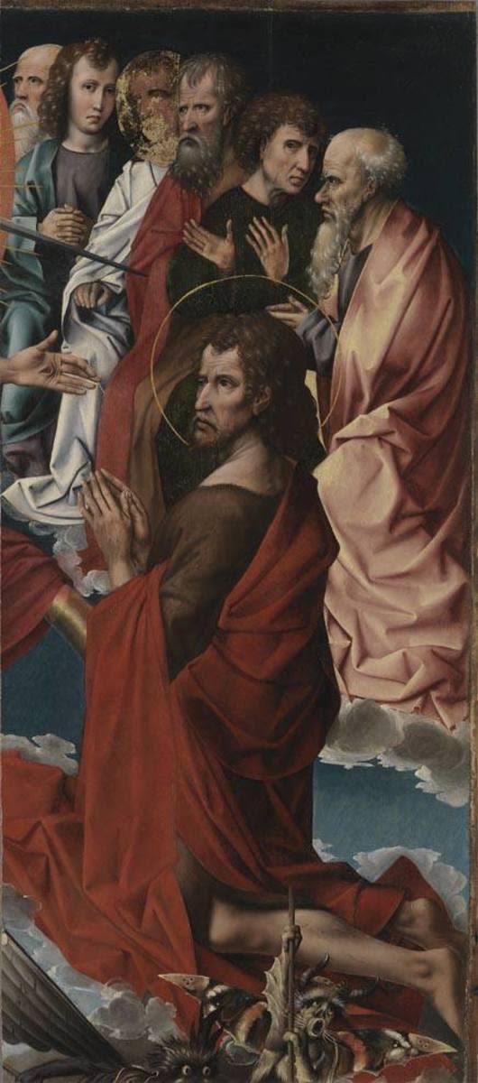 Johannes der Täufer mit sechs Aposteln