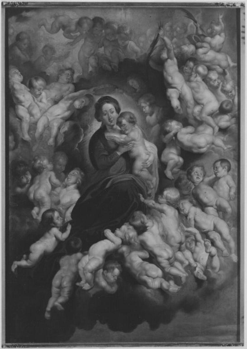 Maria mit Kind, von Engeln umgeben (nach Peter Paul Rubens)