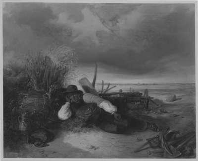 Ein alter Bauer träumt von der Schlacht bei Aspern