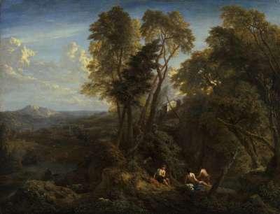 Hügellandschaft mit Fernsicht