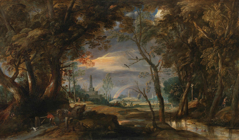 Landschaft mit Gewitter