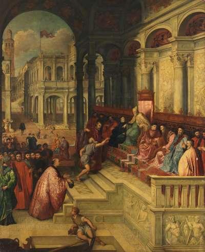Der Fischer überreicht dem Dogen den Ring des hl. Markus (nach Paris Bordone)