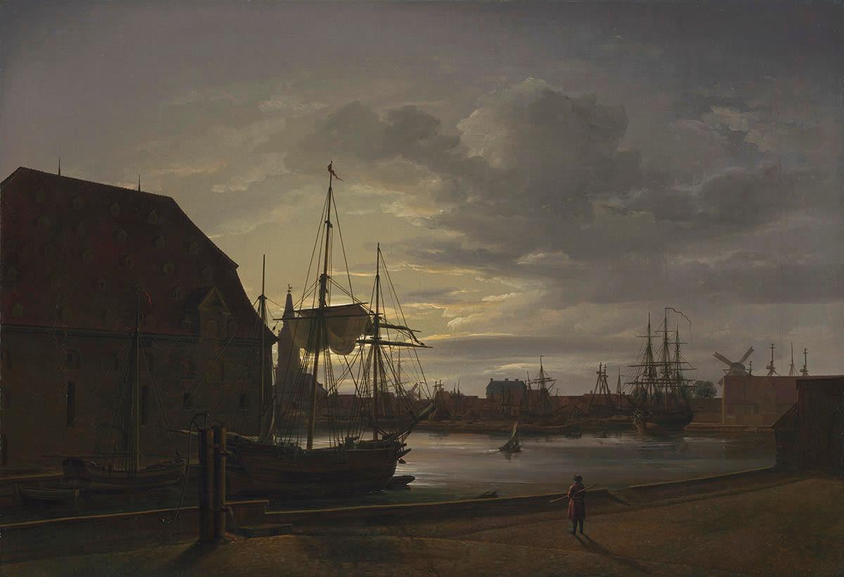 Frederiksholms Kanal in Kopenhagen mit dem Brauhaus Christians IV.
