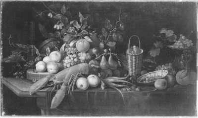 Früchtestillleben mit Hummer