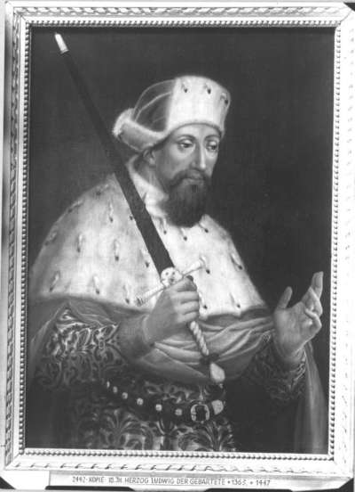 Bildnis des Kurfürsten Ludwig III. des Bärtigen von der Pfalz (1378-1436)