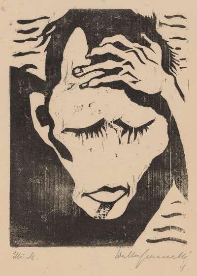 Müde (Selbstporträt)