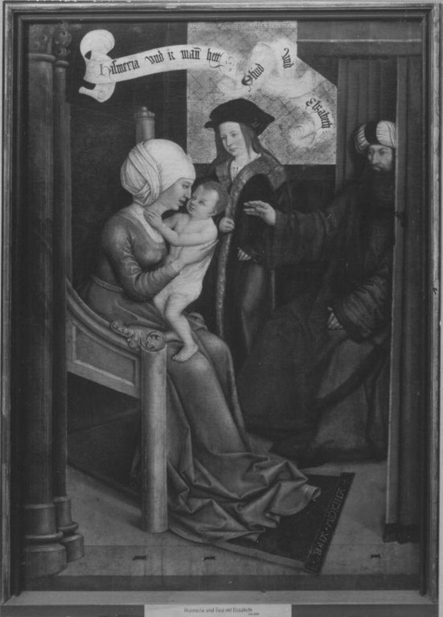 Mindelheimer Sippenaltar: Esmeria und Ephraim mit Eliud und Elisabeth