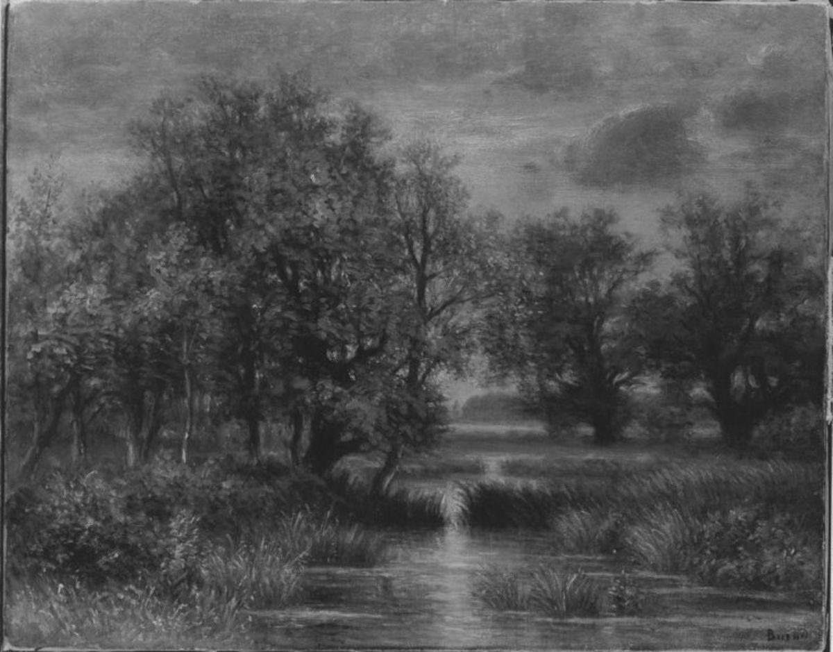 Landschaft mit Gewässer