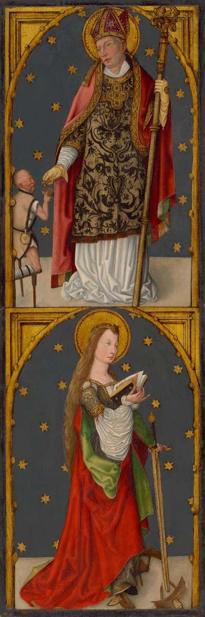 """""""Aschaffenburger Triptychon"""": Hll. Martin und Katharina"""
