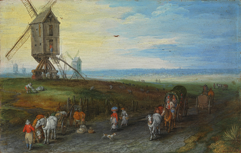 Windmühlen auf weiter Ebene