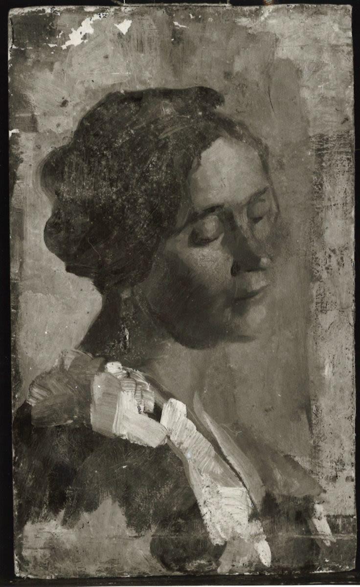 Weibliches Bildnis (auf Vorder- und Rückseite)