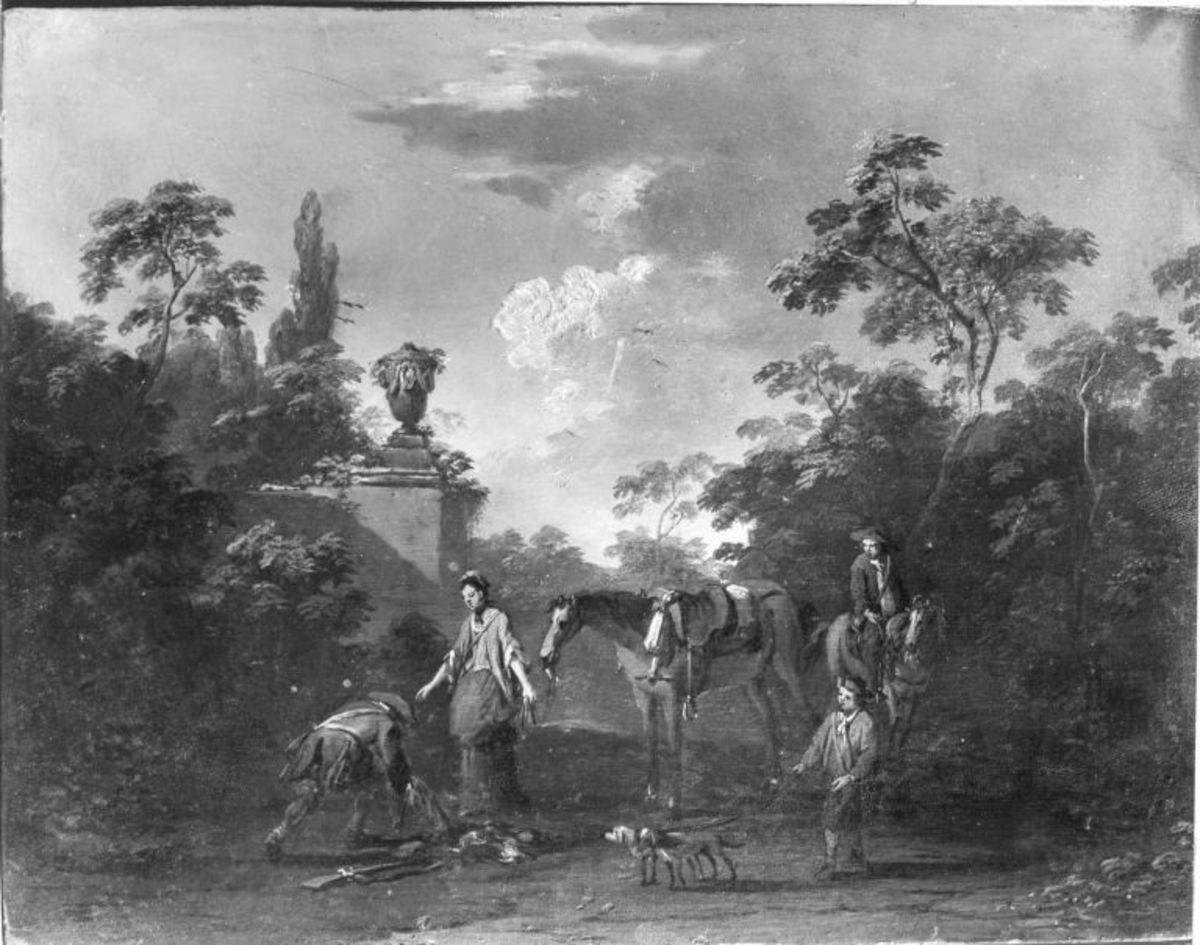 Landschaft mit Jagdstaffage