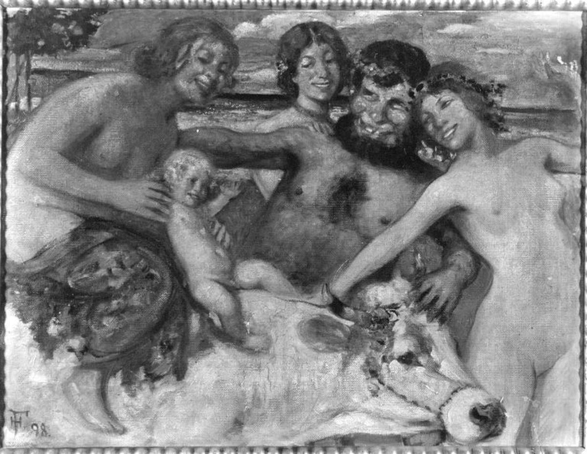 Faun und Nymphen