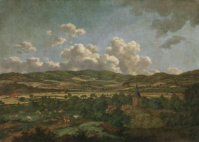 Blick von Aschaffenburg nach Goldbach (Aschaffenburger Zyklus)