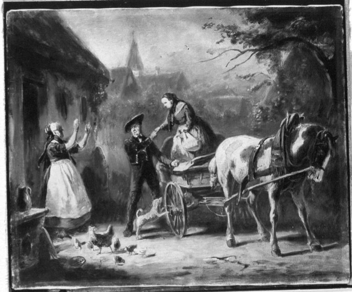 """Illustrationen zu Melchior Meyrs """"Erzählungen aus dem Ries"""": Das Begräbnis des Meiers Johann"""