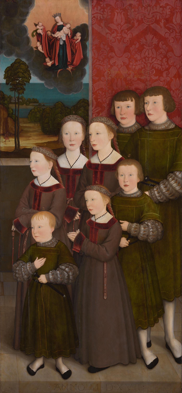 Rehlinger-Diptychon: Die acht Kinder des Konrad Rehlinger